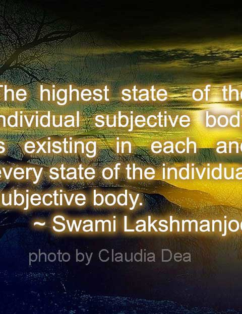 5 Subjective States in Kashmir Shaivism - part 5- highestState
