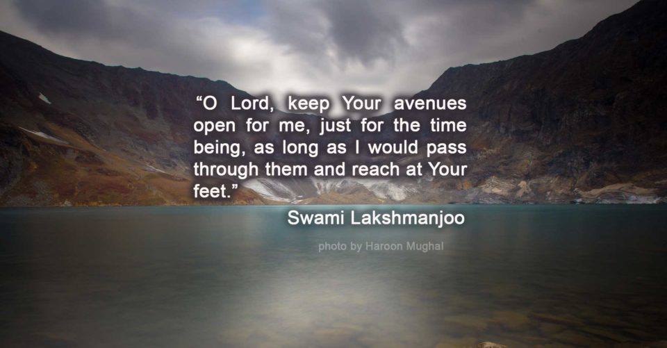 This is the great story of my torture in this universe... Teachings of Swami Lakshmanjoo